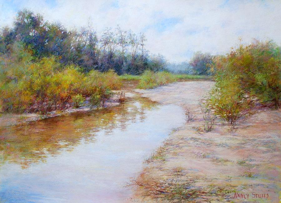 Rivers Painting - Landscape  by Nancy Stutes