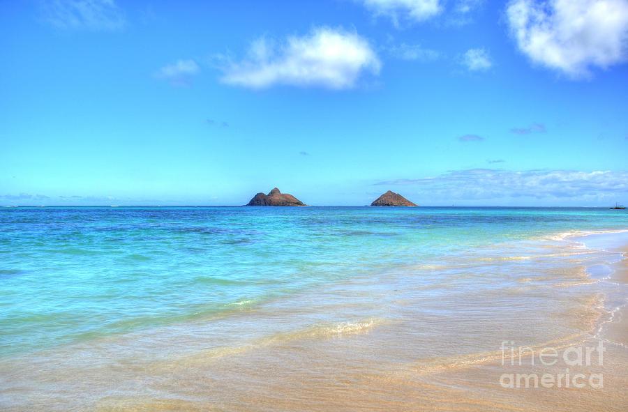 Mokulua Islands Photograph - Lanikai Beach Oahu Hawaii by Kelly Wade