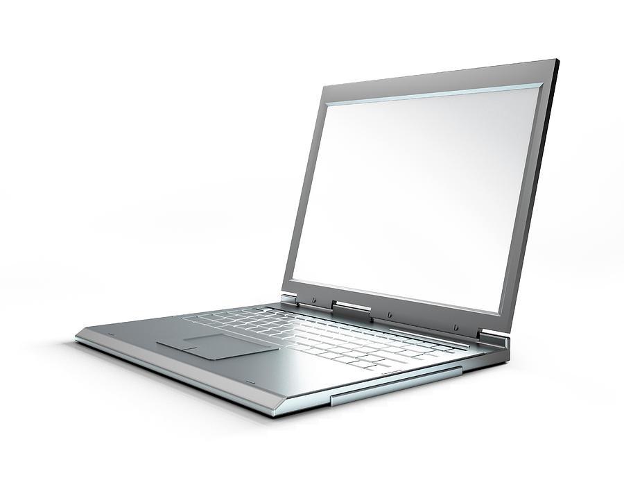 Laptop Computer, Artwork Digital Art by Leonello Calvetti