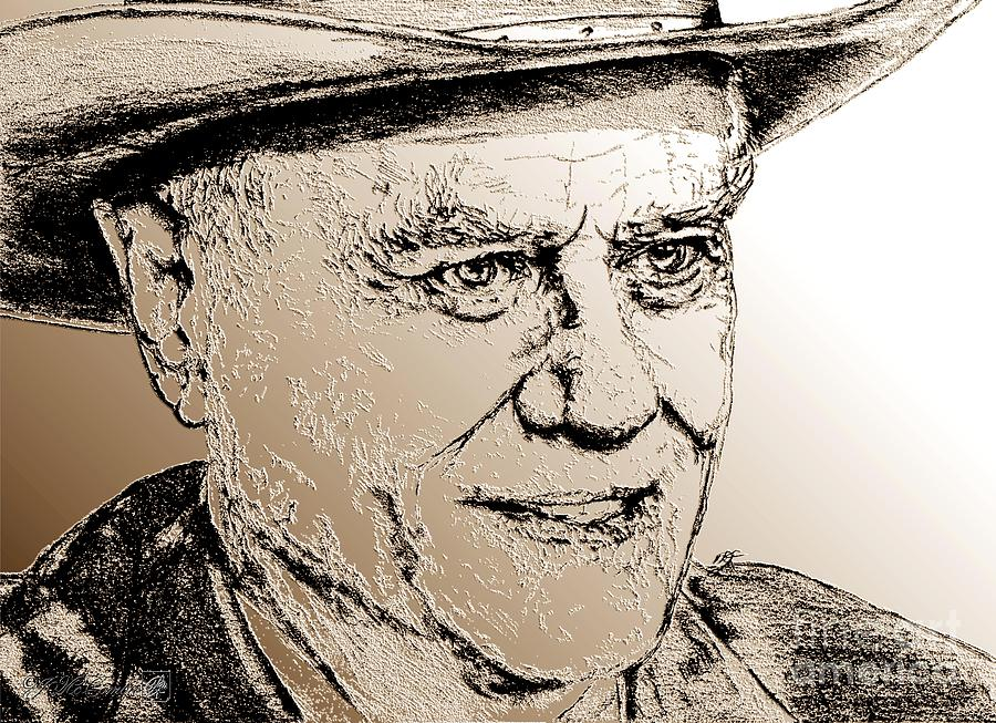 Larry Hagman Digital Art - Larry Hagman In 2011 by J McCombie