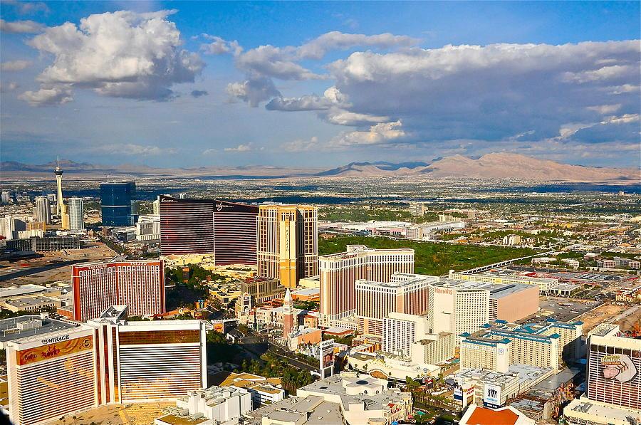 Las Vegas Strip Photograph - Las Vegas Strip  by Amanda Miles