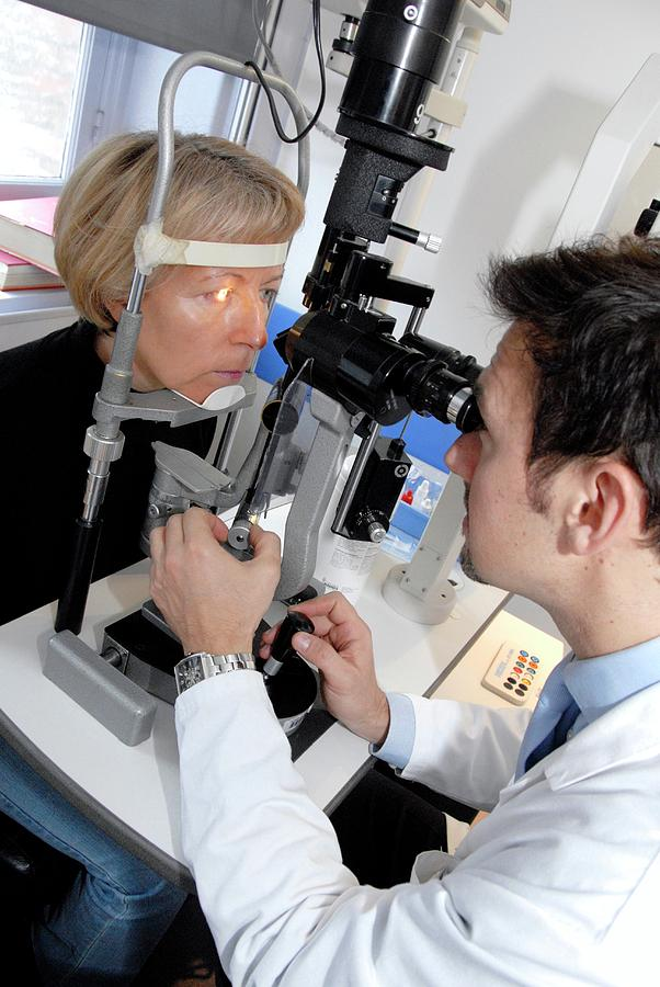 Human Photograph - Laser Eye Surgery Aftercare by Aj Photo/science Photo Library