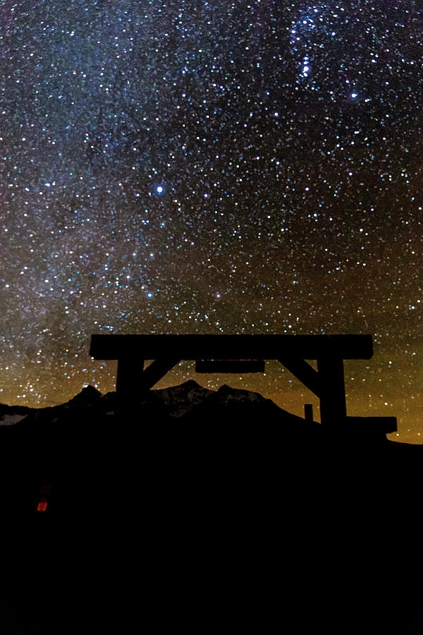 Vertical Photograph - Last Dollar Gate And Milky Way Starry by Panoramic Images