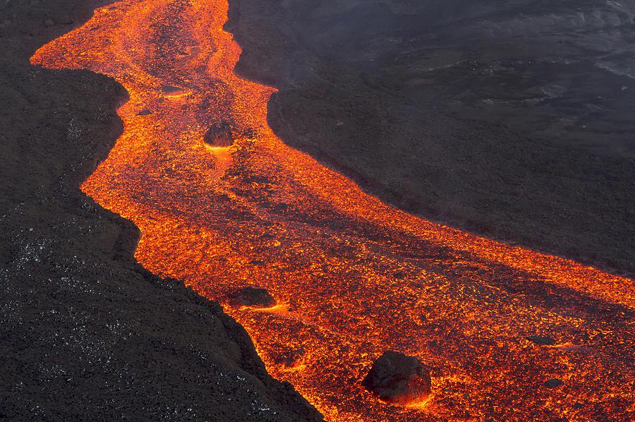 Lava Flow Tolbachik Volcano Kamchatka Photograph by Sergey Gorshkov