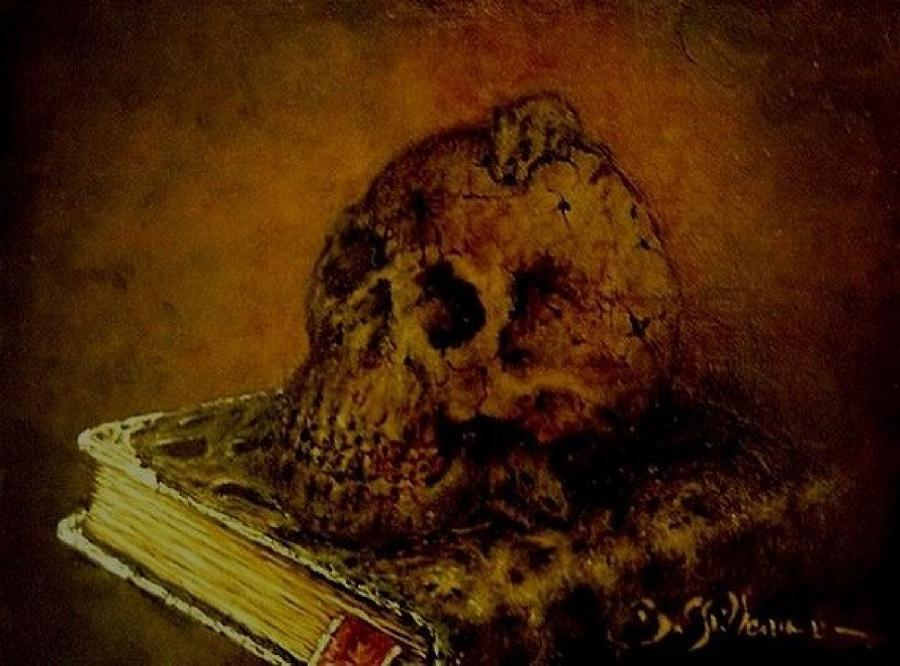The Book Of The Dead Painting - Le Livre Des Morts by Guillaume Bruno