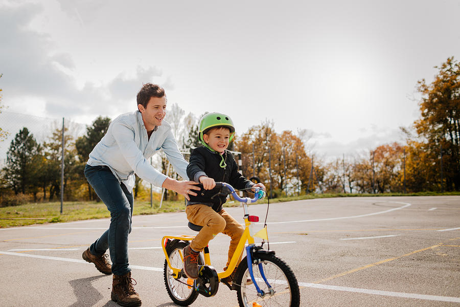 Learning To Ride A Bicycle Photograph by AleksandarNakic