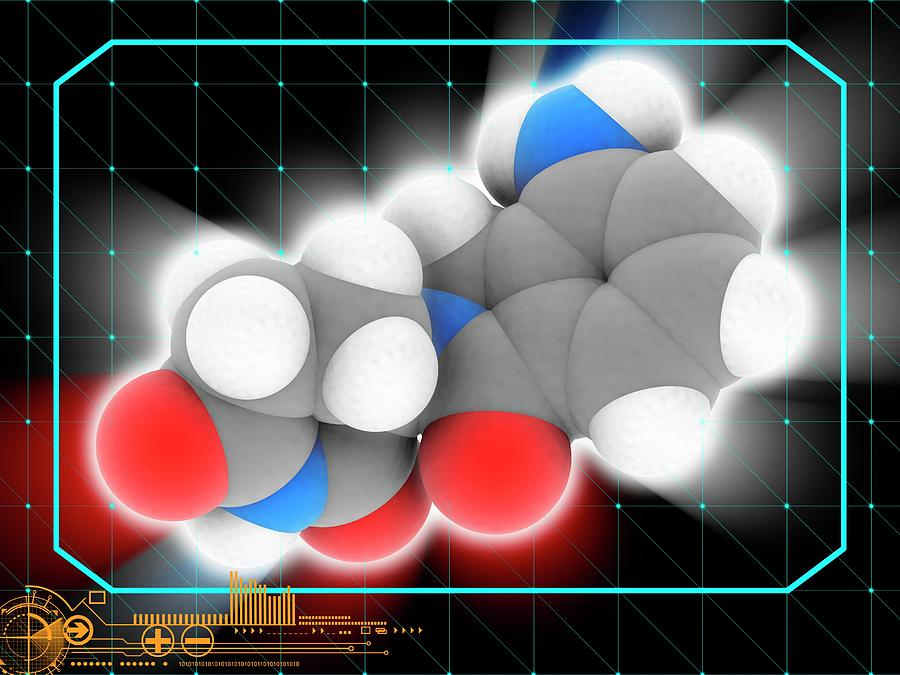 Artwork Photograph - Lenalidomide Drug Molecule by Laguna Design/science Photo Library
