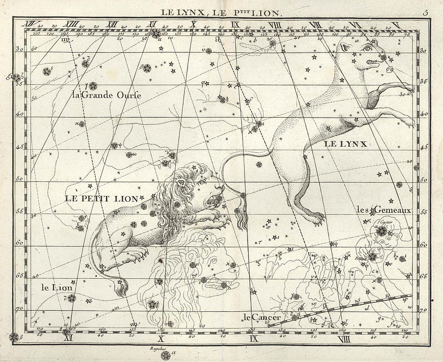 Leo Minor And Lynx Constellations, 1729