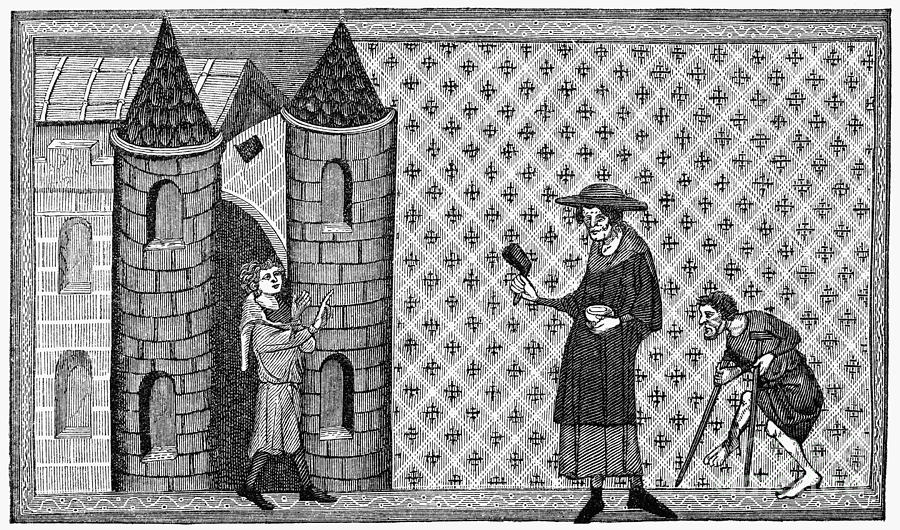 13th Century Photograph - Leper House, C1220-1244 by Granger