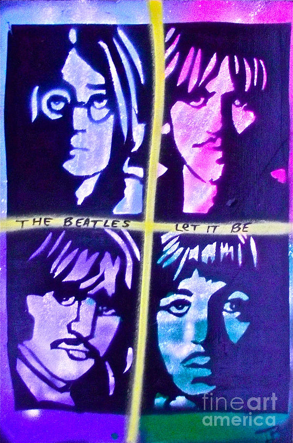 The Beatles Painting - Let It Be by Tony B Conscious