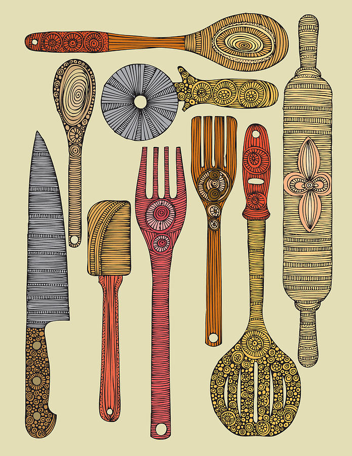Illustration Photograph - Lets Cook by Valentina Ramos