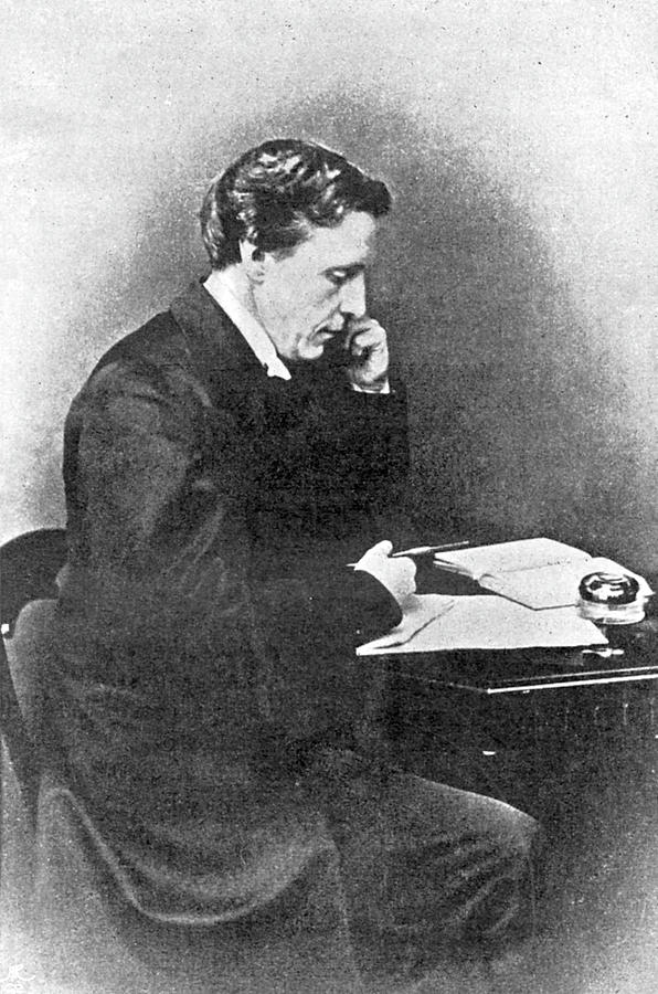Lewis Photograph - Lewis Carroll Alias Charles Lutwidge by Mary Evans Picture Library