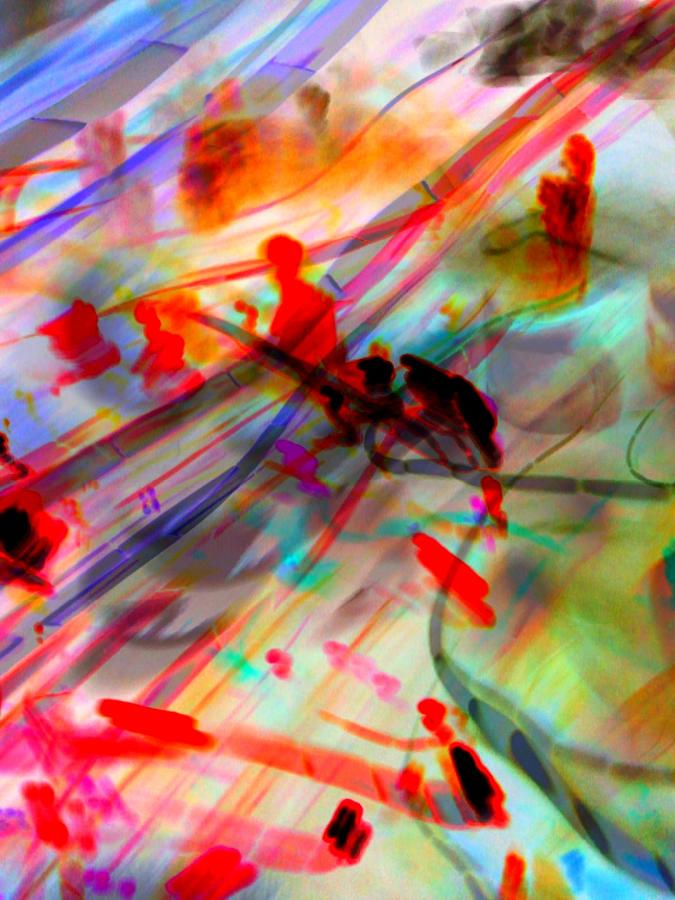 Light Digital Art - Light Strands by D Preble