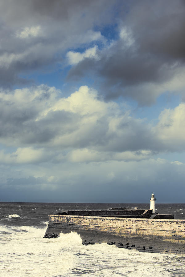 Lighthouse Photograph - Lighthouse At Whitehaven by Amanda Elwell
