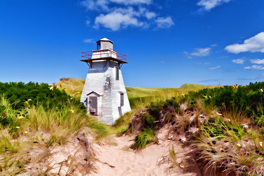 Lighthouse Photograph - Lighthouse On The Dunes by Dan Dooley