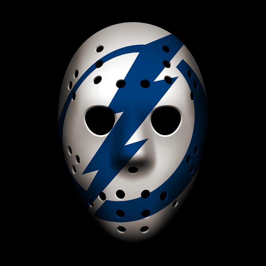 Lightning Goalie Mask Photograph By Joe Hamilton