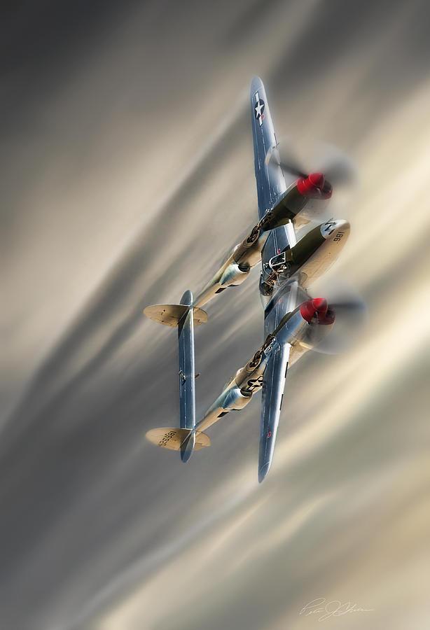 Aviation Digital Art - Lightning Speed by Peter Chilelli