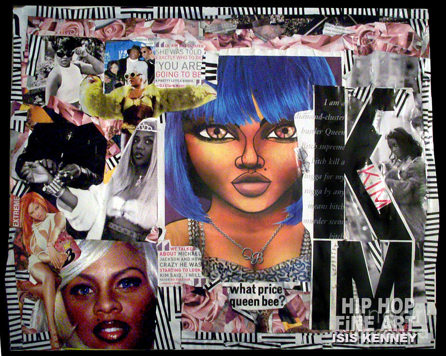 Lil Kim Mixed Media - Lil Kim The Making Of A Queen Bee by Isis Kenney