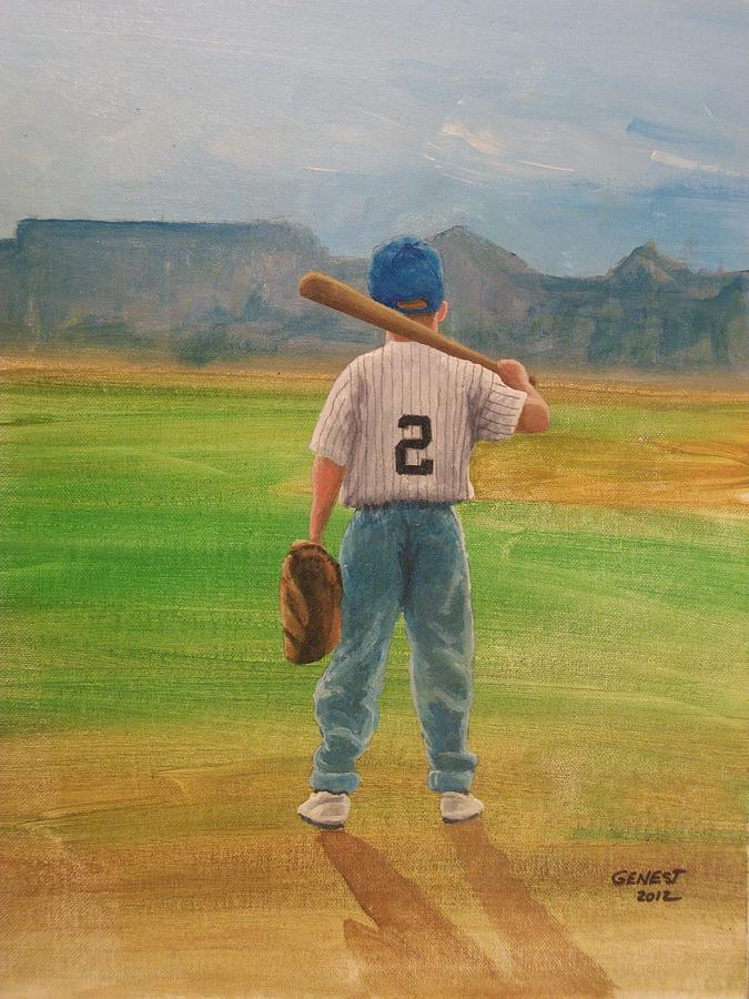 Lil Slugger Painting by Ron  Genest