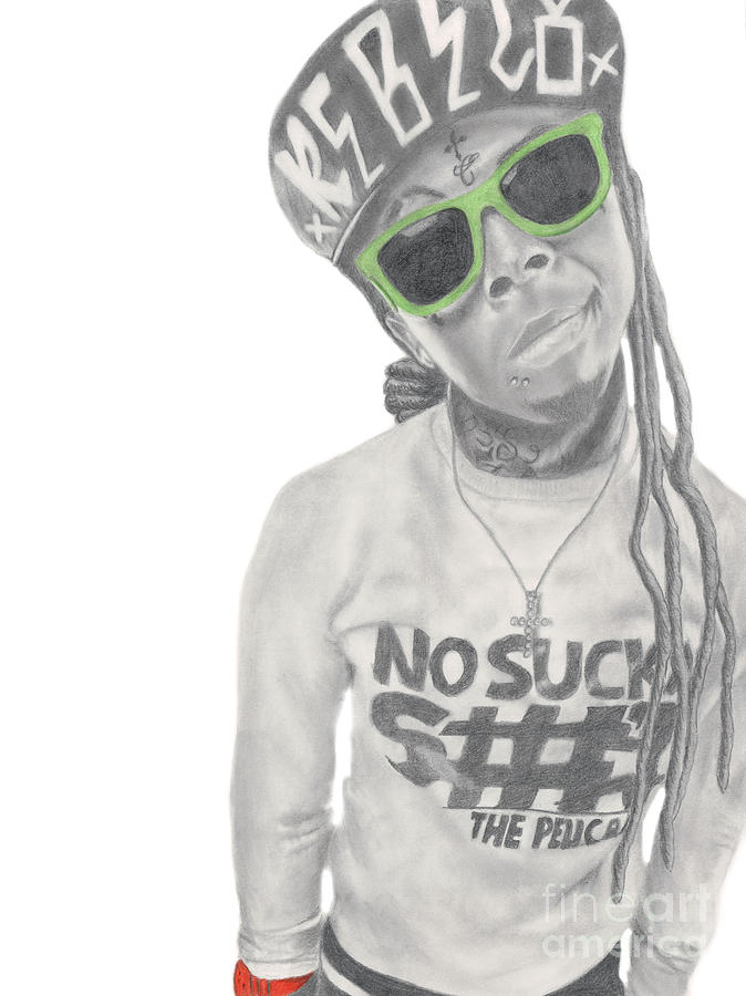 Lil Drawing - Lil Wayne by Michael Durocher