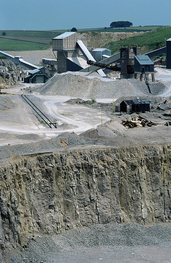Limestone Quarry by Robert Brook/science Photo Library