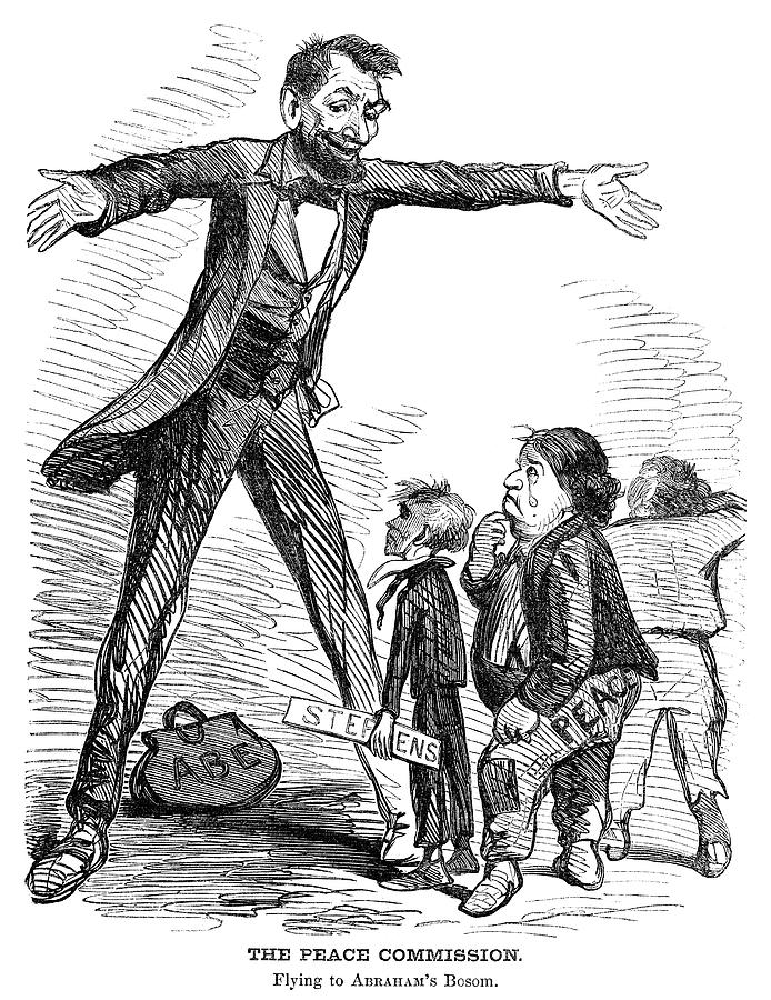 1865 Painting - Lincoln Cartoon, 1865 by Granger