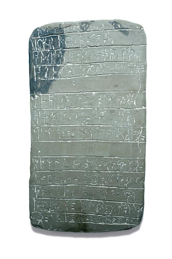 Troy Photograph - Linear B Tablet by David Parker