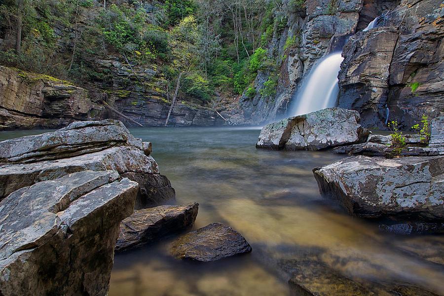 Linville Falls in the Rain by Mark Steven Houser
