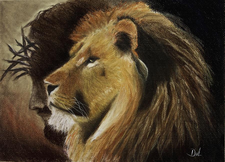 Lion Of Judah Pastel By Dale Bradley