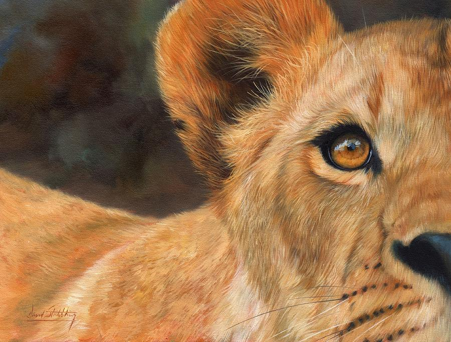 Lion Painting - Lioness by David Stribbling