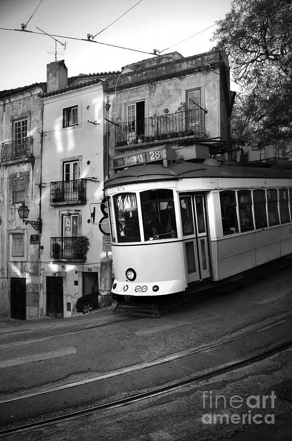Black Photograph - Lisbon Tram by Carlos Caetano