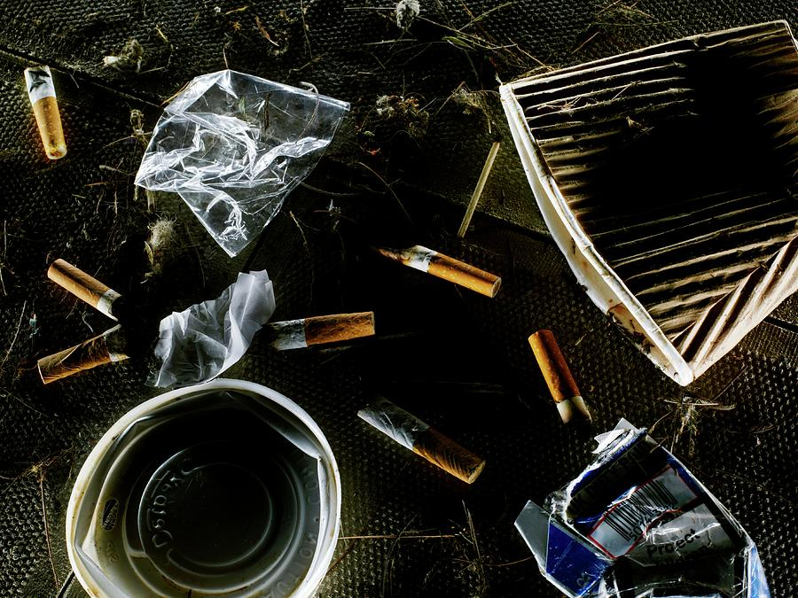 Rubbish Photograph - Litter by Patrick Llewelyn-davies/science Photo Library