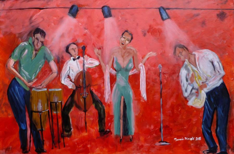 Live Jazz Painting - Live Jazz by Mounir Mounir