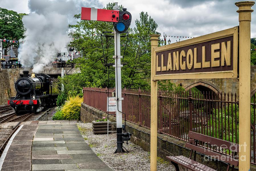 Steam Locomotive Photograph - Llangollen Railway Station by Adrian Evans
