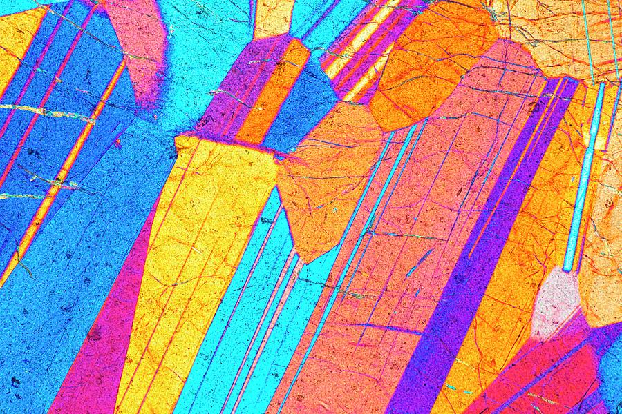 Basalt Photograph - Lm Of A Thin Section Of Gabbro Rock by Alfred Pasieka/science Photo Library