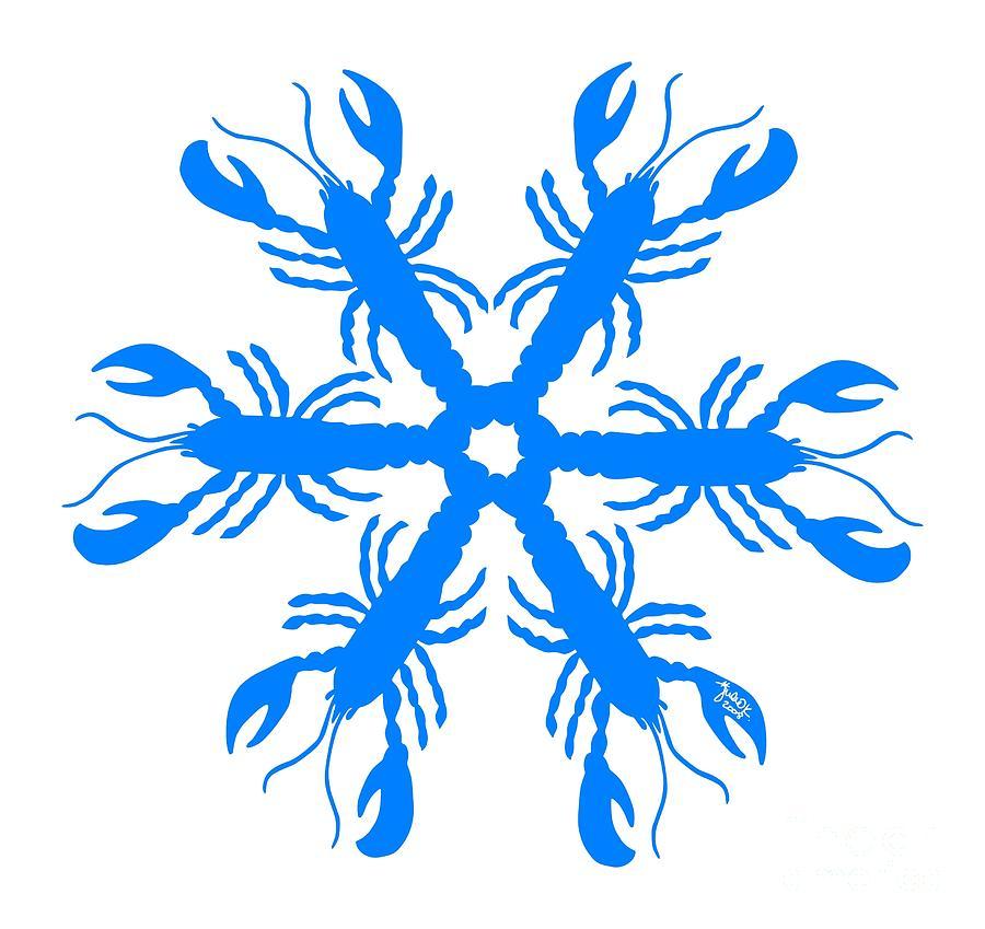 198 Painting - Lobster Snowflake 198 20080719 by Julie Knapp