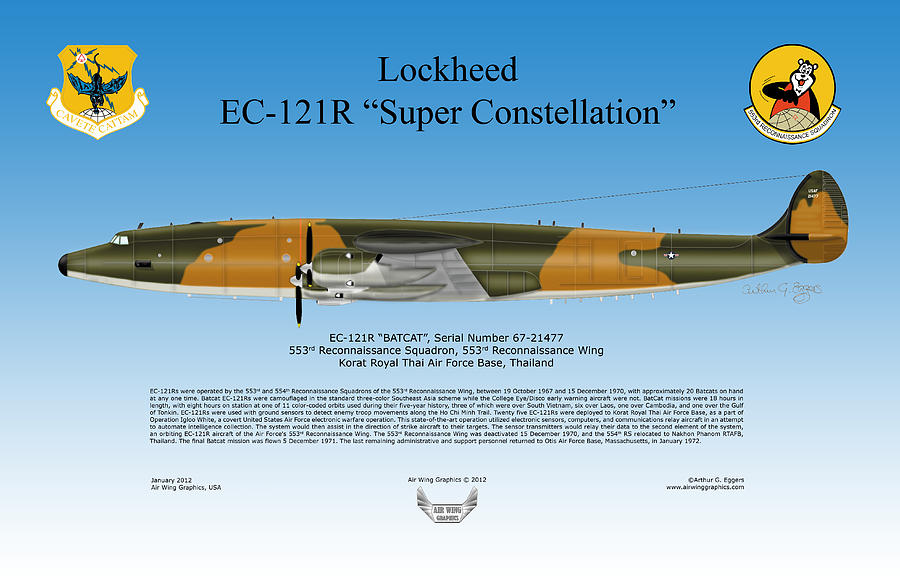 Lockheed Digital Art - Lockheed Ec-121r Super Constellation by Arthur Eggers