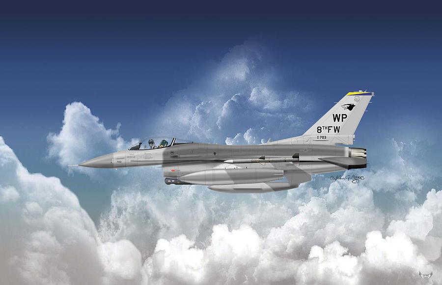 Lockheed Martin Digital Art - Lockheed Martin F-16c Fighting Falcon by Arthur Eggers
