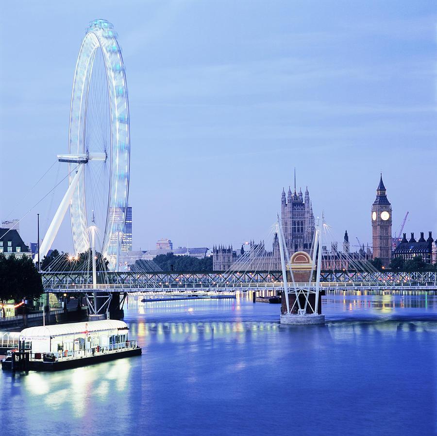 Big Ben Photograph - London Eye by Mark Thomas/science Photo Library