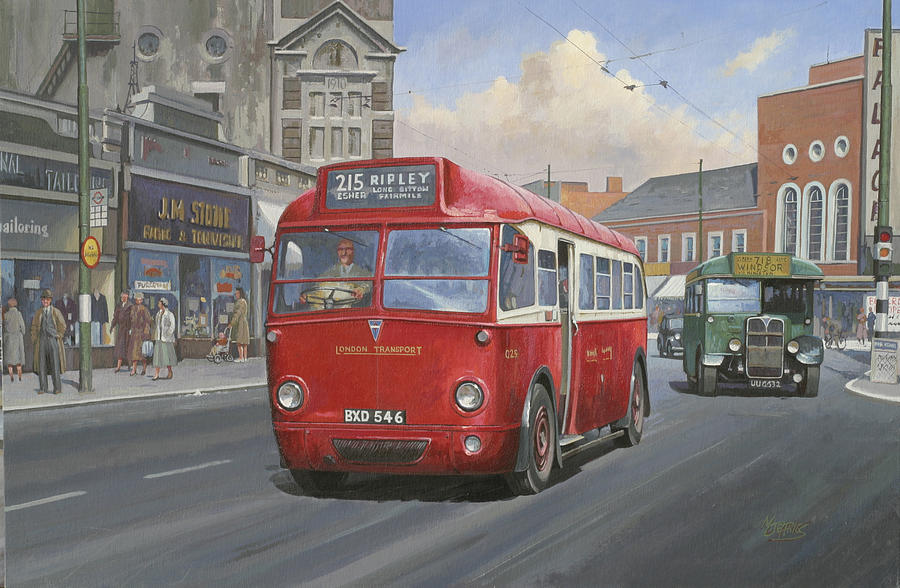 Bus Painting - London Transport Q Type. by Mike  Jeffries