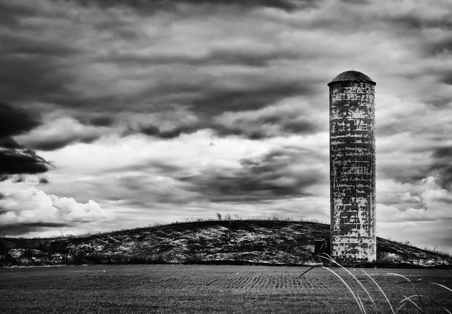 Canon Photograph - Lonely Silo by Ricky L Jones