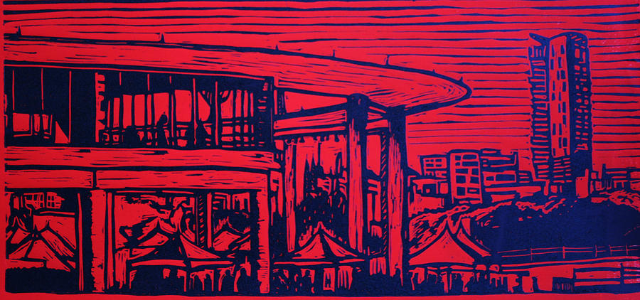 Austin Drawing - Long Center by William Cauthern