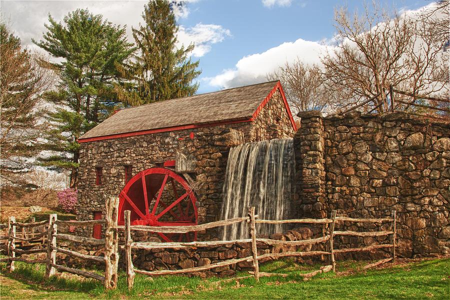 Longfellow's Wayside Inn Grist Mill Photograph by Jeff Folger