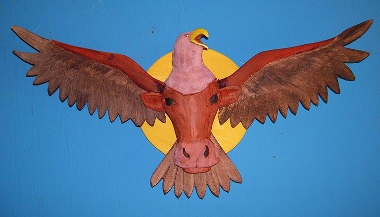 Eagle Sculpture - Longhorn Eagle by Michael Pasko