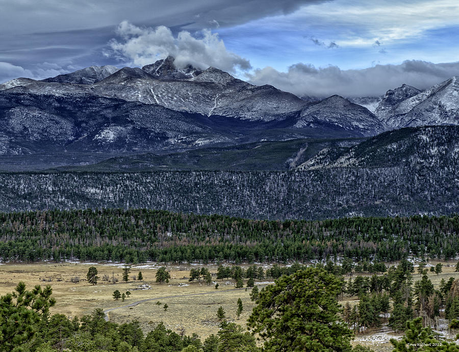 Rockies Photograph - Longs Peak by Tom Wilbert