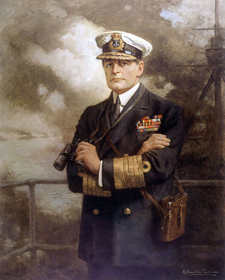 Lord Drawing - Lord David Beatty  British Admiral by Mary Evans Picture Library