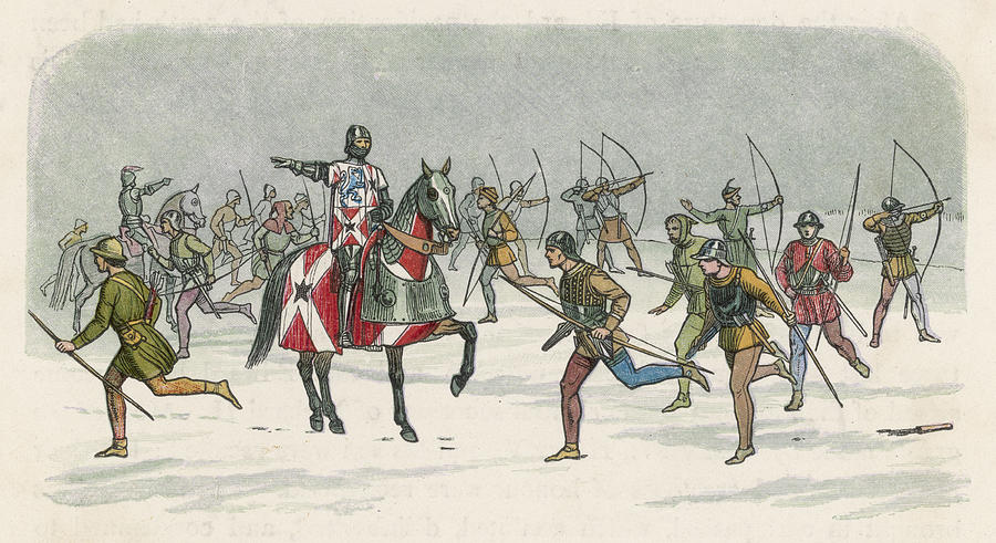 Battle Drawing - Lord Fauconbridge At The  Battle by Mary Evans Picture Library