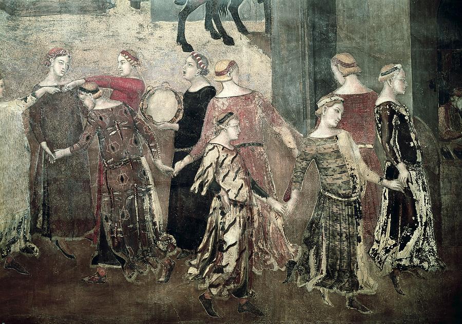 Horizontal Photograph - Lorenzetti, Ambrogio 1285-1348 by Everett