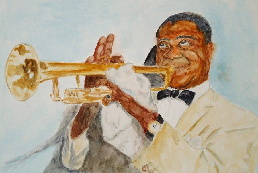 Louis Armstrong Painting - Louis Armstrong 2 by Katie Spicuzza