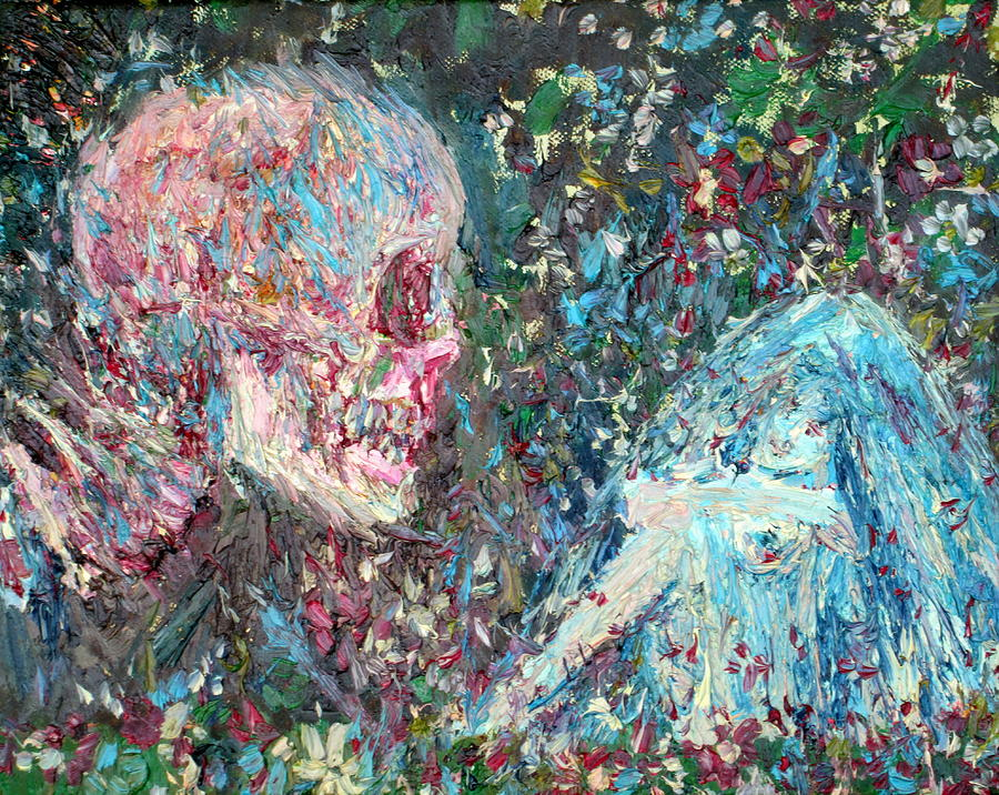 Skull Painting - Love Cannot Live By Heavenly Food Alone by Fabrizio Cassetta